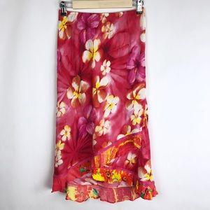 Jams World Skirt Size Small Womens Floral Hawaiian